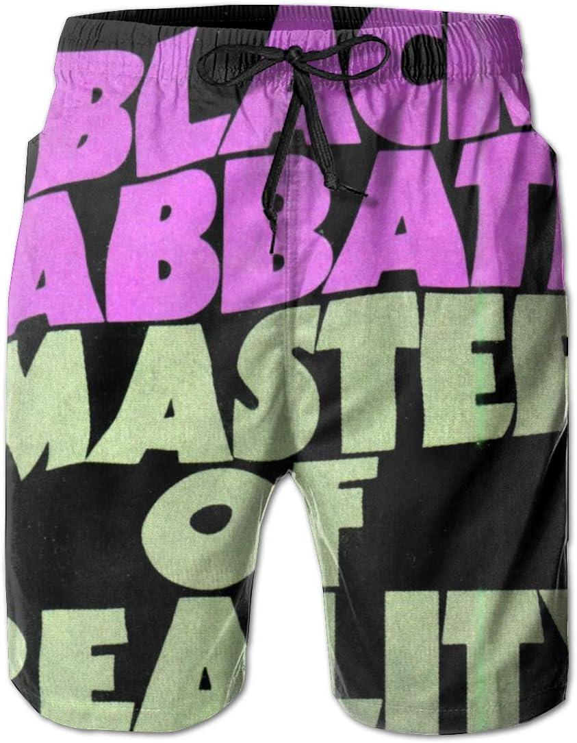 JADESPON Black Sabbath Master of Reality Drawstring Beachwear Summer Beach Short with PocketMedium
