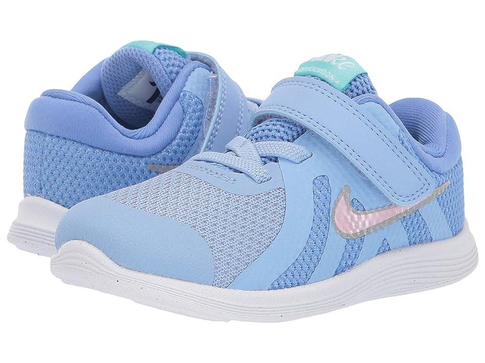 Nike Kids Revolution 4 (Infant/Toddler) (Royal Pulse/Pink Foam/Aluminum) Girls Shoes