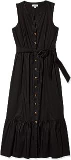 Calvin Klein Women's Maxi Oversize Shirt Dress with Flounce Hem