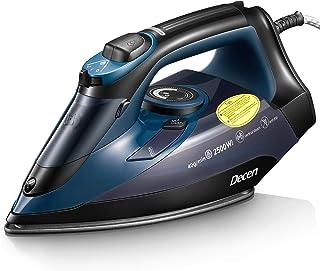 Fer à Repasser Decen - 2500 W Fer à Vapeur Nanocéramique - 300 ml - Effet Pressing jusqu'à 350g/min, Semelle Anti-gouttes,...