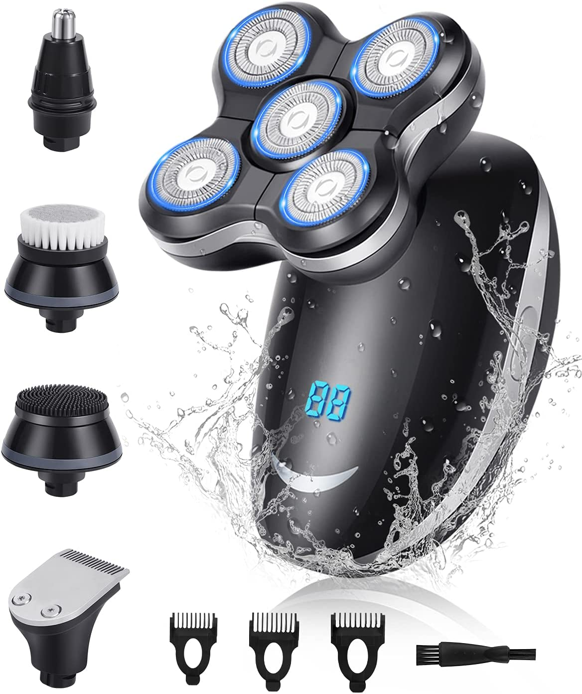 Head Shavers for Bald Men 5 Razor in 1 Gifts Electric Waterpr Spring new work one after another