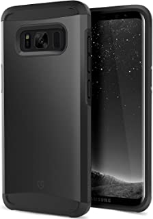 SHIELDON Galaxy S8 Plus Case, Hybrid Dual Layer Shock Absorption Case with Flexible Inner Protection and Reinforced Hard Bumper Frame Sunrise Series Compatible with Galaxy S8 Plus (6.2 inch) - Black