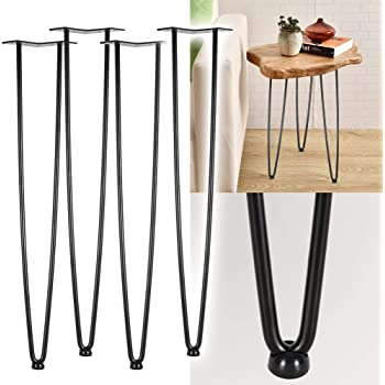 Patas horquilla para mesa Set 4 Hairpin Legs Negro Altura 86cm Muebles personalizados Vintage Retro