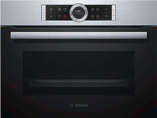 Bosch Serie 8 CBG633NS3 - Horno (Medio, Horno eléctrico, 47 L, 47 L, 0-300 °C, 4 estanterías)