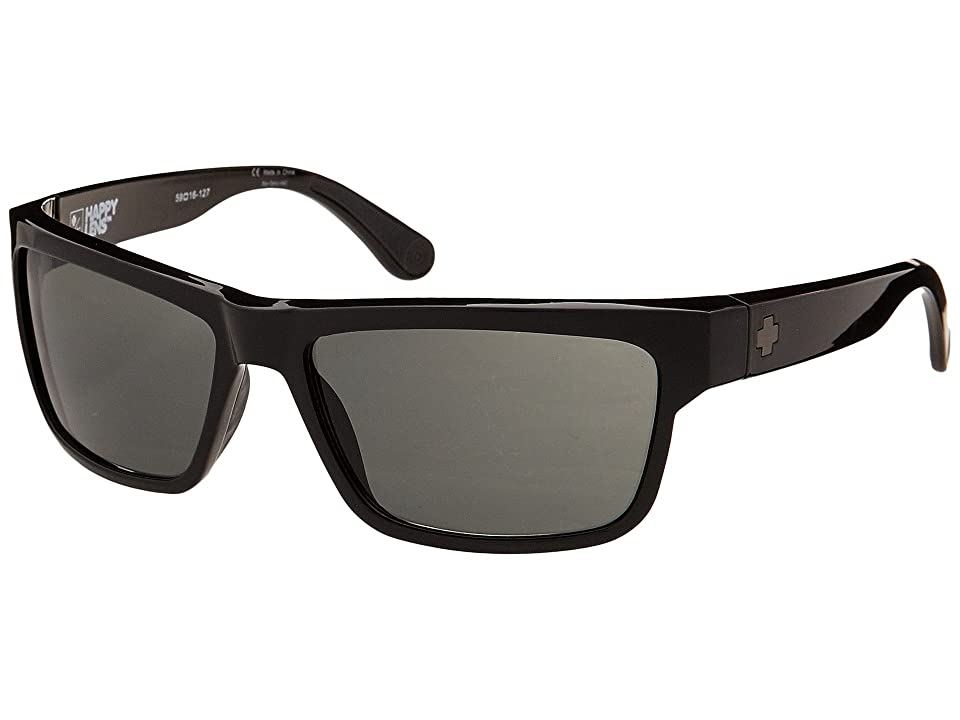 Spy Optic Frazier (Happy Lens) (Black Happy Grey Green) Sport Sunglasses