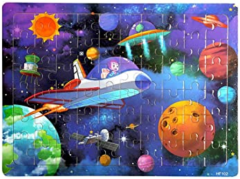Wooden Jigsaw Puzzles for Kids Age 4-8 Year Old 60 Piece Colorful Wooden Puzzles for Toddler Children Learning Educat...