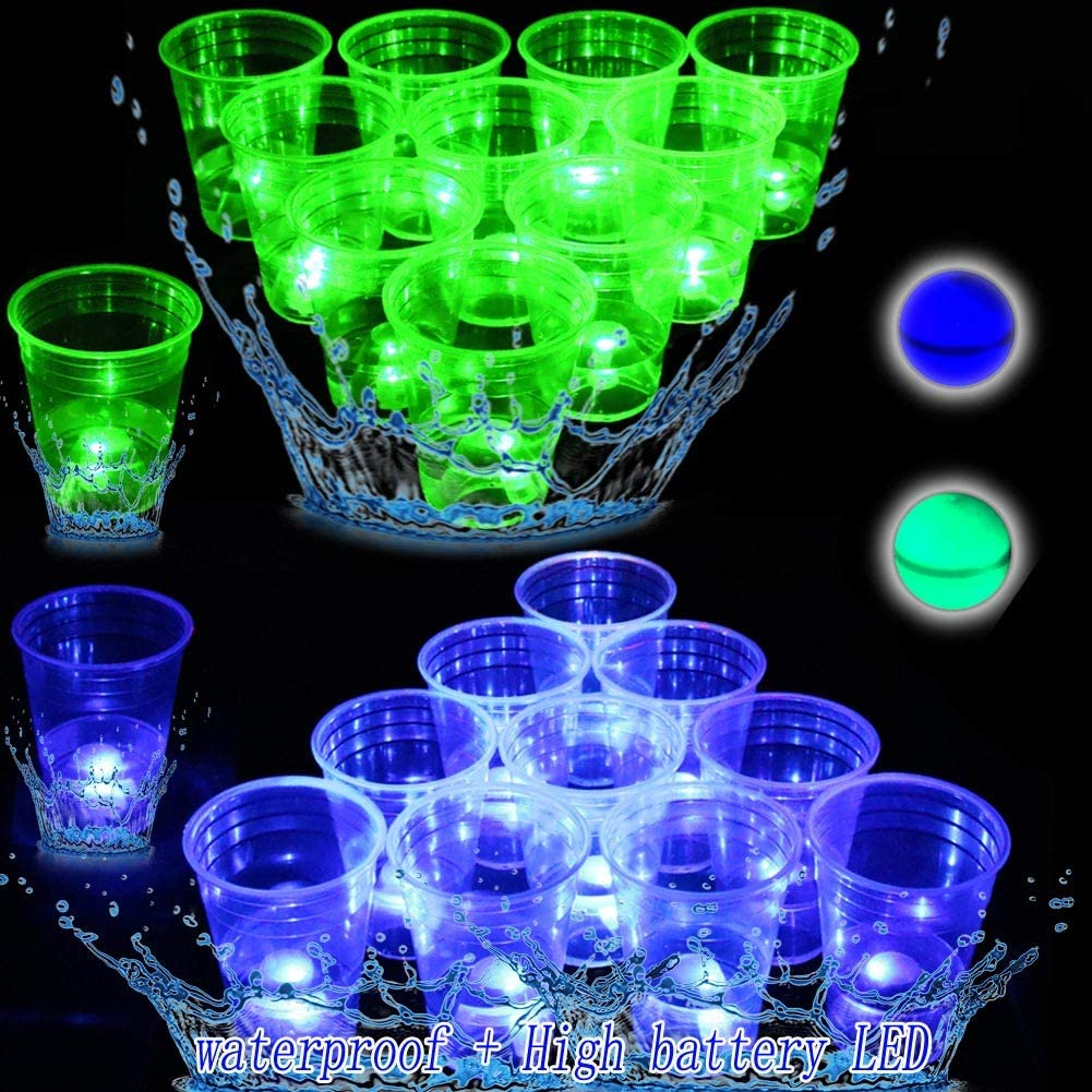 Glow Al sold out. in The Dark Beverage Pong Set-Light Cups Indoor Up for National uniform free shipping