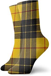 Alu20haoing Men's And Women's Fashion Cool Printed Soft Casual Socks, Multi-color Pattern Novel FUN Breathable And Durable Dress Long Socks For Unisex - Macleod dress tartan