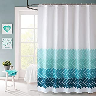 VIS'V Shower Curtain, Heavy Duty Waterproof Fabric Shower Curtain with Rust-Resistant Grommet Holes for Bathroom - Blue Dream