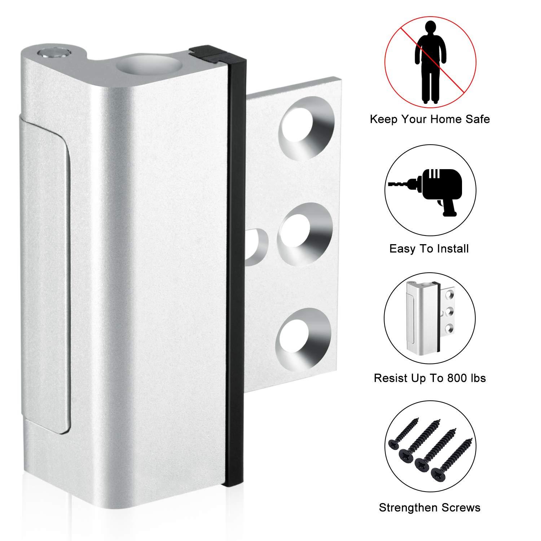 TOLEDO Sliding Door Patio Lock TDP02S Silver Finish - Works With
