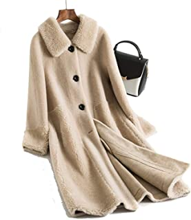 Surprise S Women 30% Wool Coat Wide Waisted Warm Jacket Shearling Girl Long Jacket
