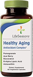 LifeSeasons - Healthy Aging - Anti Aging Supplement - Antioxidant Complex - Acai Berry, Astaxanthin, Resveratrol, R-Alpha ...