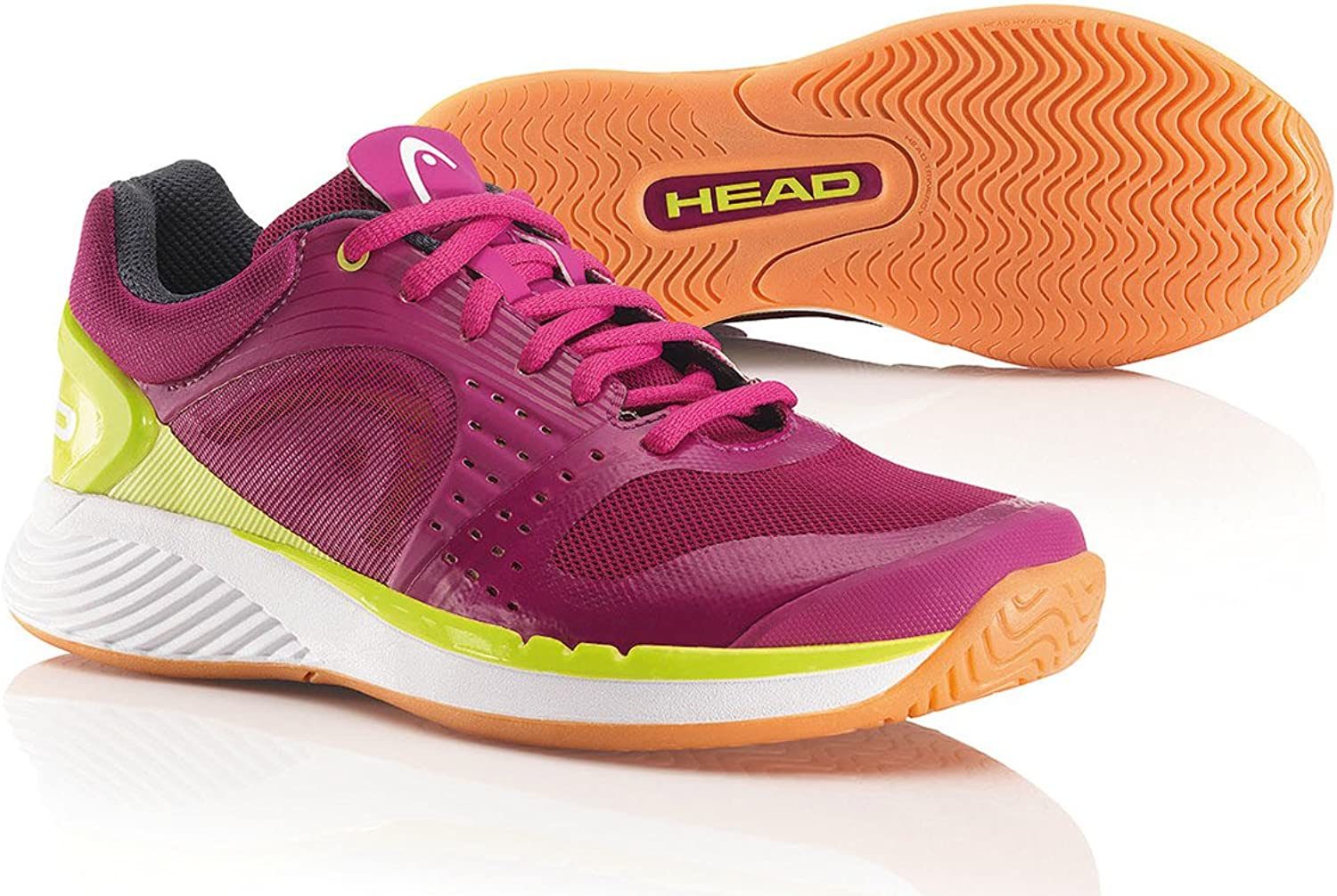 Head Sprint Pro Indoor Women's Court shoes Berry Yellow (6.5)