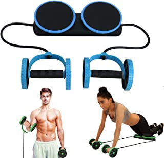 MACUNIN Multi Function Double Ab Roller Wheel,New Version Ab Wheel,Exercise and Fitness Wheel for Home Gym,Abdomen and Arm Workout Equipment Waist Slimming Trainer for Man and Women