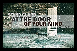 MR.CI Jim Rohn- Stand Guard at The Door of Your Mind Poster Wall Print|Inspirational Motivational Gym Classroom Home Office Dorm|18 X 12 in|SJC187