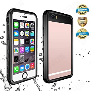 Effun iPhone 6 Plus Waterproof Case, iPhone 6S Plus Waterproof Case, IP68 Certified Waterproof Cover Dirt/Snow/Shock Proof Case with Cell Phone Holder, PH Test Paper, Stylus Pen, Floating Strap Black