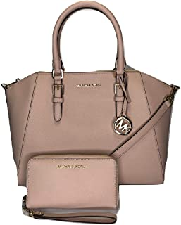 5d96ac97f7ab MICHAEL Michael Kors Ciara Large TZ Satchel bundled with Michael Kors Jet  Set Travel Large Phone
