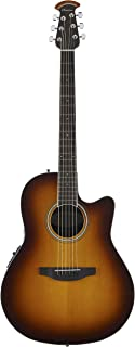 Ovation 6 String Acoustic-Electric Guitar, Right Handed, 2-Color Sunburst (CS24-1)