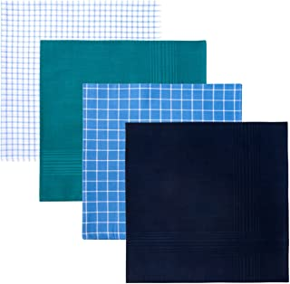 Retreez 8 Piece Pure Cotton Assorted Men's Handkerchiefs Hanky Gift Box Set, Christmas gift - Assorted Set 002