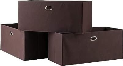 Winsome Wood 38323-WW Torino Storage/Organization, Chocolate
