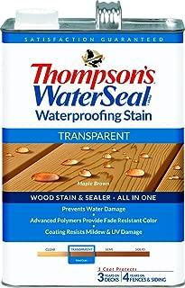Thompsons Waterseal 41821 Transparent Maple Brown WaterSeal Waterproofing Stain