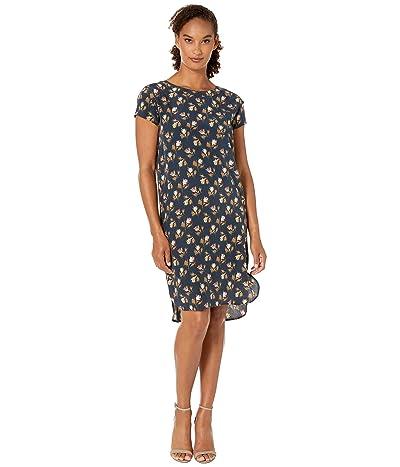 Pendleton Silk Shift Dress (Navy Rose City Floral) Women