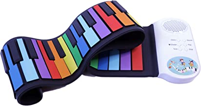 iLearnMusic Roll Up Piano, Premium Grade Silicone, Built-in Amplifying Speakers - Educational Piano (49 Keys (A49))