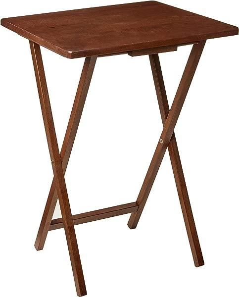 PJ WOOD TV Tray Table In Dark Mango