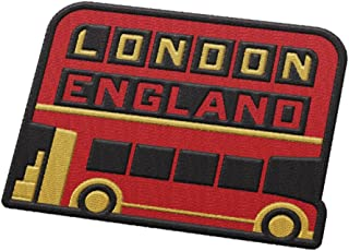 Vagabond Heart London England Travel Patch - Double Decker Tourist Bus / Great souvenir for backpacks and luggage / Backpacking and travelling badge.