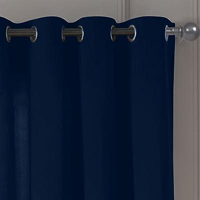 bdece9011e59 DESIGNER LINEN'S OUTLET Velvet Texture Grommet Top Window Curtain Pair  Panel Drapes For Bedroom, Livingroom