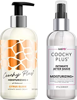 Coochy Plus Intimate Shaving Complete Kit - CITRUS ELIXIR & Organic After Shave Protection Soothing Moisturizer – Antibact...