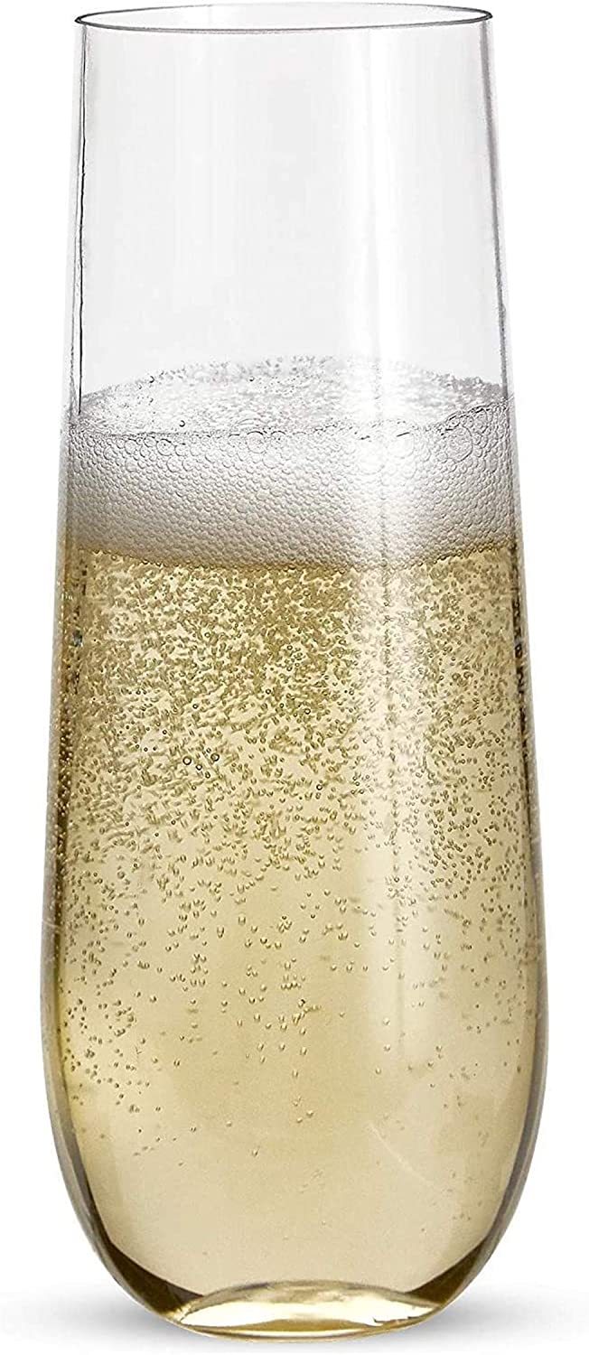 LLDKA 24 OFFicial Dealing full price reduction store Stemless Plastic Champagne Gla Flutes