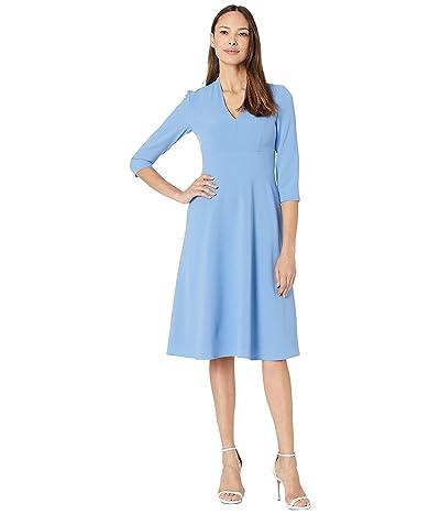 Vince Camuto Kors Crepe High Neck Midi Dress (Periwinkle) Women