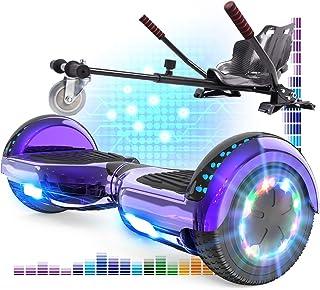 RCB Hoverboard mit Sitz und Hoverkart Set 6,5 Zoll Elektro Skateboard für Kinder..