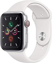 Apple Watch Series 5 (GPS+Cellular, 44 mm)  Aluminio en Plata - Correa Deportiva Blanco