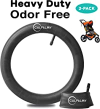 16'' x 1.75/16'' x 1.95/16'' x 2.125 Back Wheel Replacement Inner Tubes (2-Pack) for Graco Click/Go Jogging and BoB Revolution SE/Pro/Flex/SU - Made from BPA/Latex Free Premium Quality Butyl Rubber