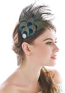 comprar comparacion Diadema de plumas de pavo real fabricada a mano para la cabeza; india, bohemia, hippie, para mujeres y niñas