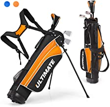 Tangkula Junior Complete Golf Club Set for Children Right Hand, Includes 3# Fairway Wood, 7# & 9# Irons, Putter, Head Cove...