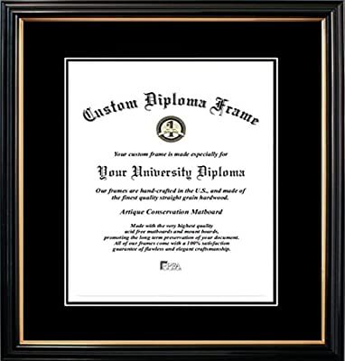 Name /& Tassel Graduation Diploma Frame 16 x 16 Cherry Signature Announcements University-of-New-Haven Undergraduate Sculpted Foil Seal