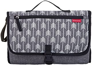 Lekebaby Portable Diaper Changing Pad Built-in Head Cushion Waterproof Baby Travel Changing Station, Arrow Print