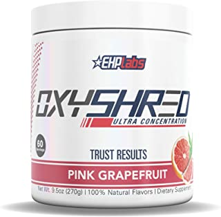 EHPlabs OxyShred Thermogenic Fat Burner Boost Metabolism, Low Stimulant, Destroy Stubborn Fat Cells (Pink Grapefruit)