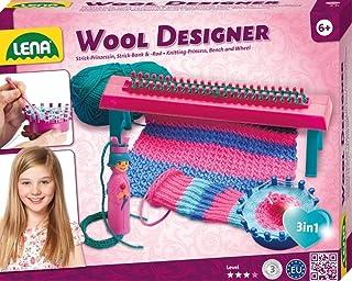 Lena 42681 x stickad set ull, komplett set för stickning med stickbänk, stickning, stickning, plaststickor och 50 g garn, ...
