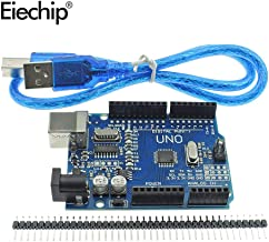 Eiechip UNO R3 ATmega328P CH340 Development Board Compatible Arduino UNO R3 Arduino IDE Develope Kit Microcontroller with Straight Pin Header 2.54mm Pitch Robot Parts