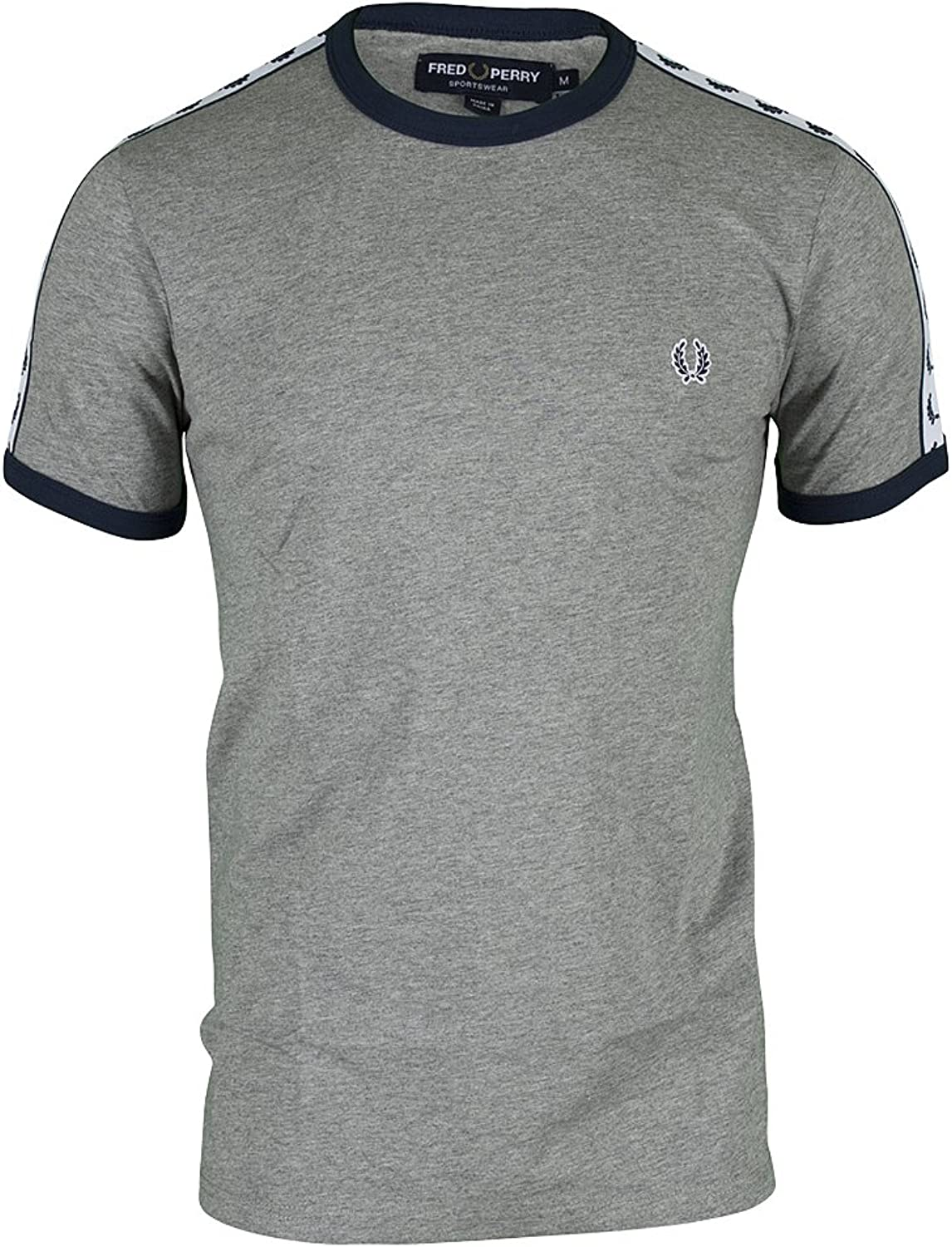 Frot Perry Herren T-Shirt Taped Ringer B014FUNO8K  Mode-Muster