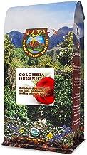 Java Planet - Colombian USDA Organic Coffee Beans, Rainforest Alliance, Low Acid, Medium Dark Roast, Whole Bean Coffee, Arabica Coffee, Gourmet Specialty Grade A - (1lb)