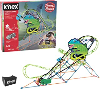 K'NEX Thrill Rides – Twisted Lizard Roller Coaster Building Set with Ride It! App – 403Piece – Ages 9+ Building Set (Amazon Exclusive)