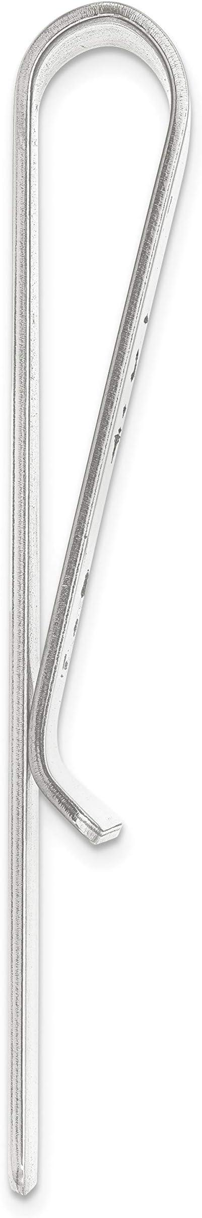 Polished /& Laser Designed Brilliant Bijou Men/'s Recess Letters Monogram Money Clip Personalized