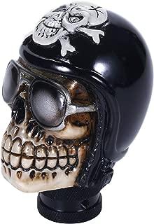 Bashineng Pirate Stick Shifter Knob Skull Shape Universal Gear Shift Head Fit Most Manual Cars (Black)