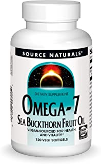 Source Naturals Omega-7 Sea Buckthorn Fruit Oil - Non-GMO, Vegan-Sourced - 120 Softgels
