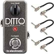 TC Electronic Ditto Looper Effects Pedal Bundle with 3 MXR Patch Cables